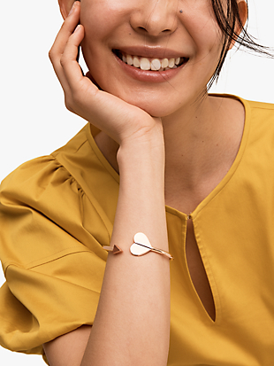 heritage metal spade flex cuff by kate spade new york hover view