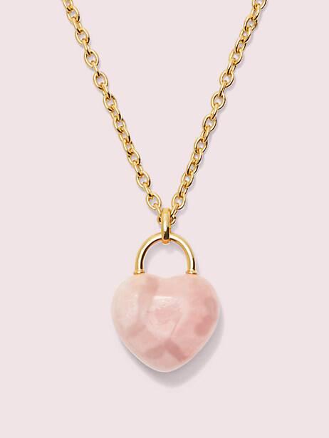 open heart stone lock pendant by kate spade new york