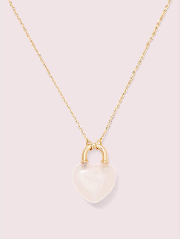 open heart stone lock mini pendant, , rr_large
