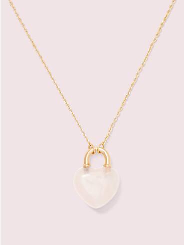 open heart stone lock mini pendant, , rr_productgrid