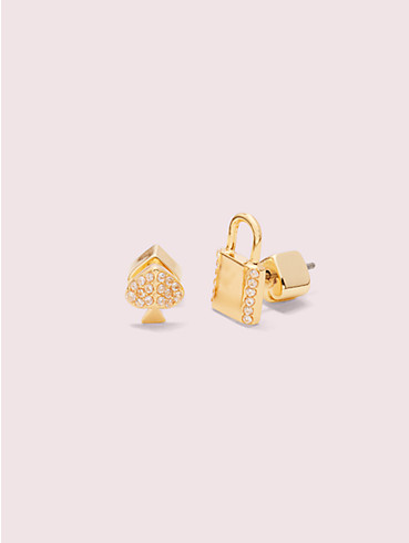 lock and spade pavé asymmetrical lock studs, , rr_productgrid