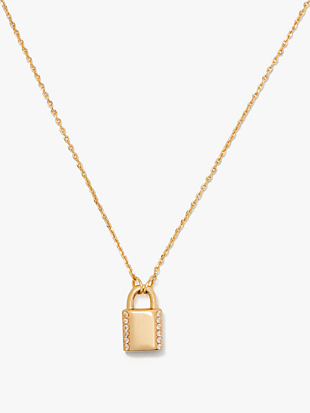 pave lock mini pendant by kate spade new york non-hover view