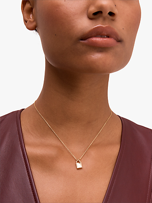 pave lock mini pendant by kate spade new york hover view