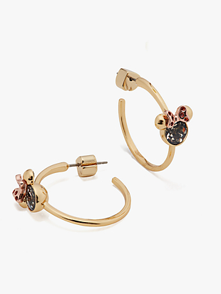 kate spade new york x minnie mouse stone hoops by kate spade new york non-hover view
