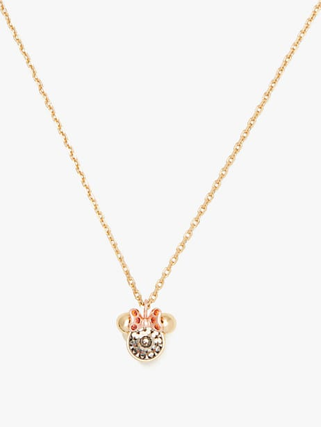 kate spade new york x minnie mouse stone pendant by kate spade new york