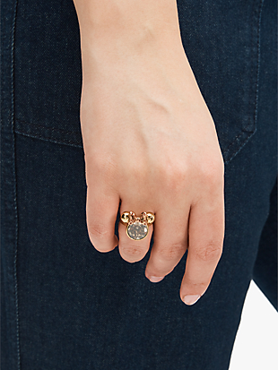 minnie mouse stone ring by kate spade new york hover view