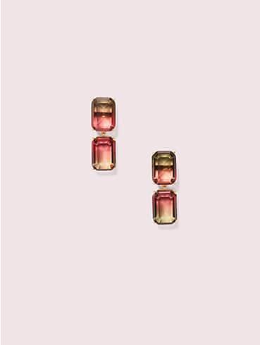 geo gems double drop earrings, , rr_productgrid