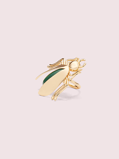 future heirloom stone bug ring, green, large by kate spade new york