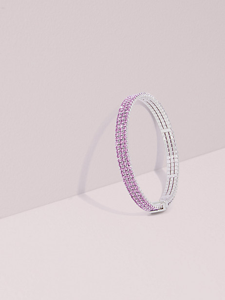 brilliant statements thin bracelet, light amethyst, large by kate spade new york