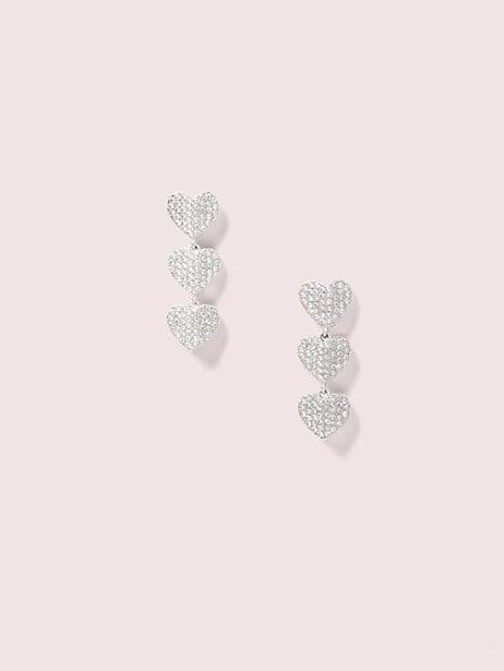 heart to heart pavé triple drop earrings by kate spade new york