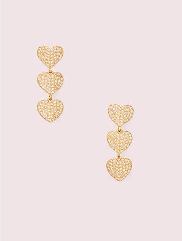 heart to heart pavé triple drop earrings, , rr_productgrid