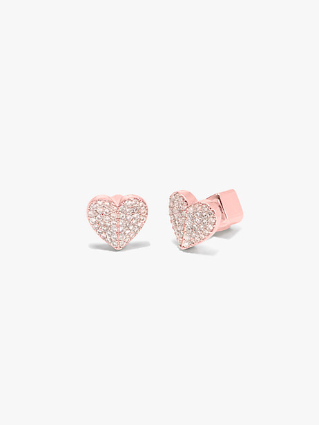 heart to heart pavé small heart studs by kate spade new york