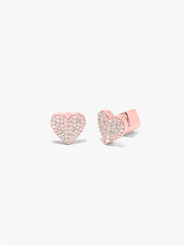 Heart to heart Kleine Pavé-Ohrstecker in Herzform, , rr_productgrid