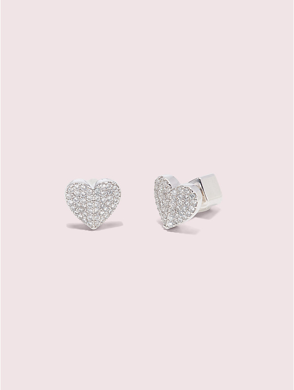 heart to heart pavé small heart studs, , rr_large