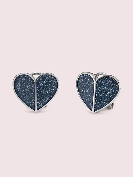heritage spade glitter heart statement studs by kate spade new york