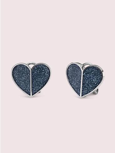 heritage spade glitter heart statement studs, , rr_productgrid