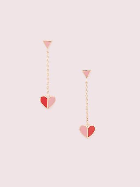 heritage spade enamel heart drop earrings by kate spade new york