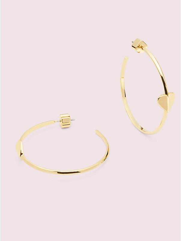 heritage spade metal heart hoops, , rr_large