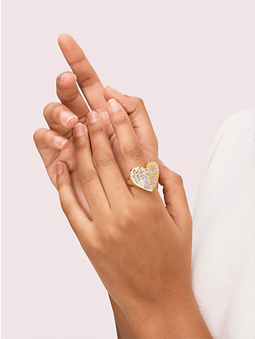heritage spade pavé script heart ring, , rr_productgrid