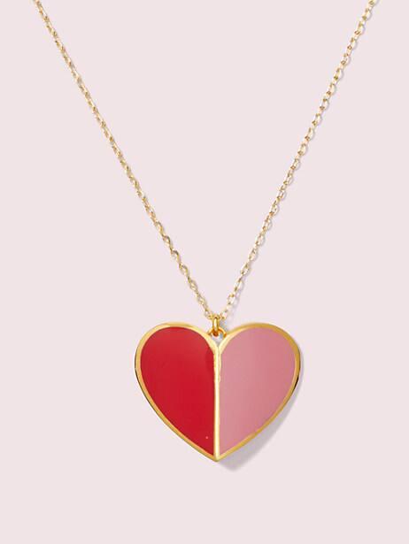 heritage spade enamel heart pendant by kate spade new york