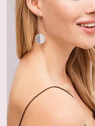 mod scallop pavé linear earrings by kate spade new york hover view