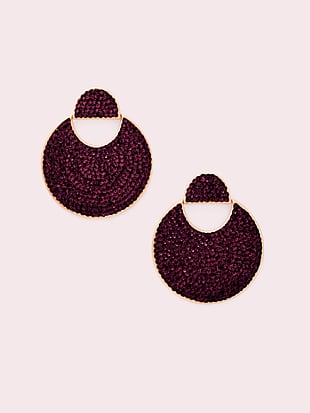 mod scallop pavé drop earrings by kate spade new york non-hover view