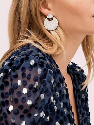 mod scallop pavé drop earrings, , rr_productgrid