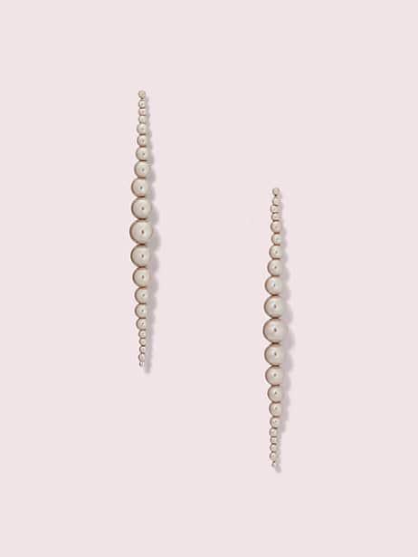 modern pearls linear earrings by kate spade new york