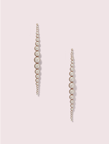 modern pearls linear earrings, , rr_productgrid