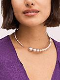 modern pearls collar necklace, , s7productThumbnail