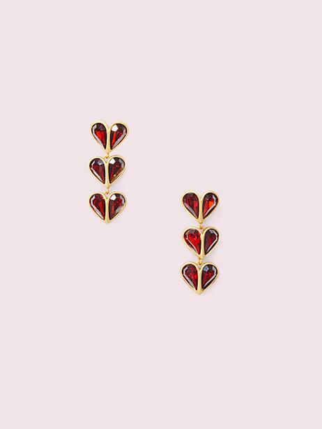 rock solid stone heart linear earrings by kate spade new york
