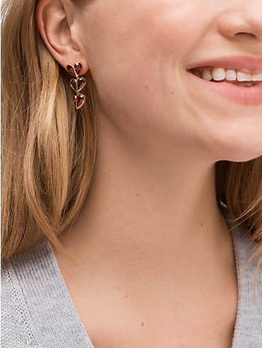 rock solid stone heart linear earrings, , rr_productgrid