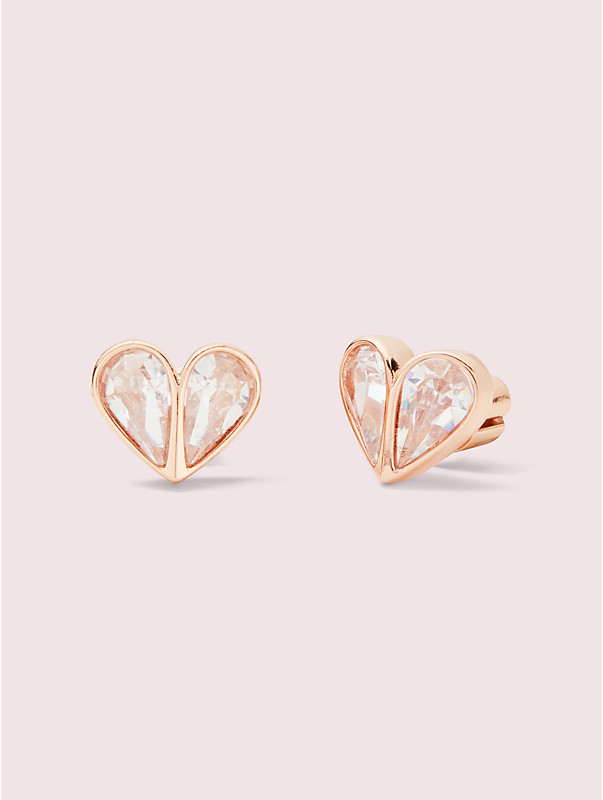 rock solid stone small heart studs, , rr_large