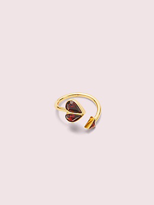 rock solid stone heart twist ring by kate spade new york non-hover view