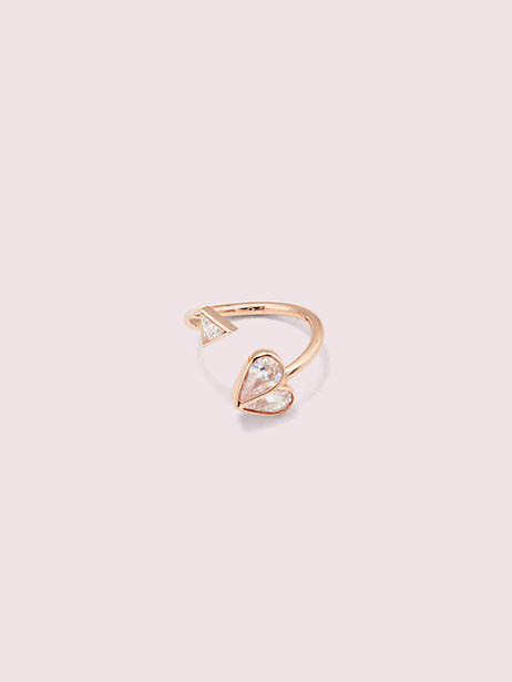 Rock solid stone heart twist ring | Kate Spade New York