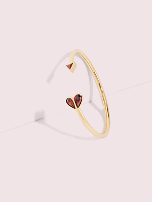 rock solid stone heart flex cuff by kate spade new york non-hover view