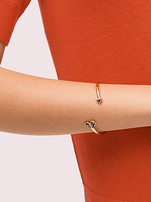 rock solid stone heart flex cuff by kate spade new york hover view
