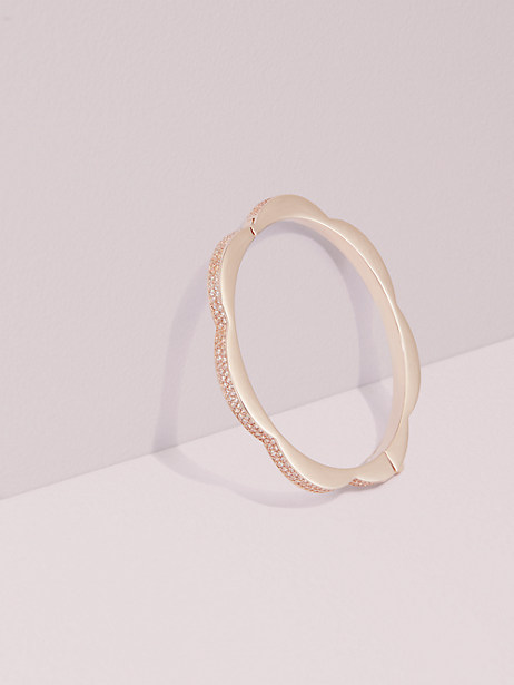 sliced scallops pavé hinged bangle by kate spade new york