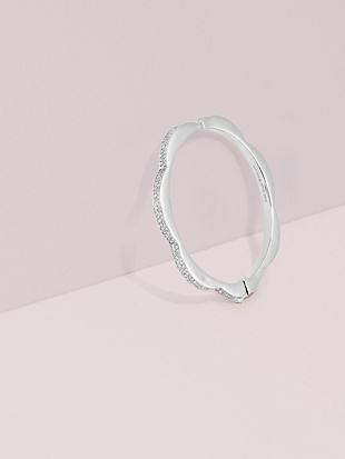 sliced scallops pavé hinged bangle by kate spade new york non-hover view