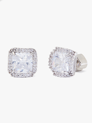 that sparkle princess cut large studs by kate spade new york non-hover view