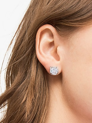 that sparkle princess cut large studs by kate spade new york hover view