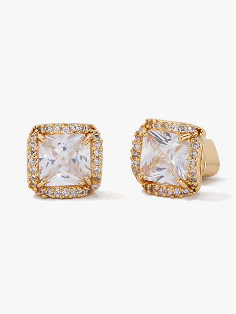 that sparkle princess cut large studs by kate spade new york