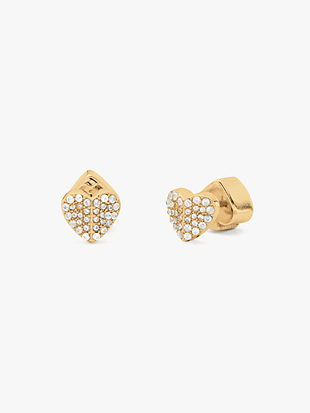 heart to heart pavé mini heart studs by kate spade new york non-hover view