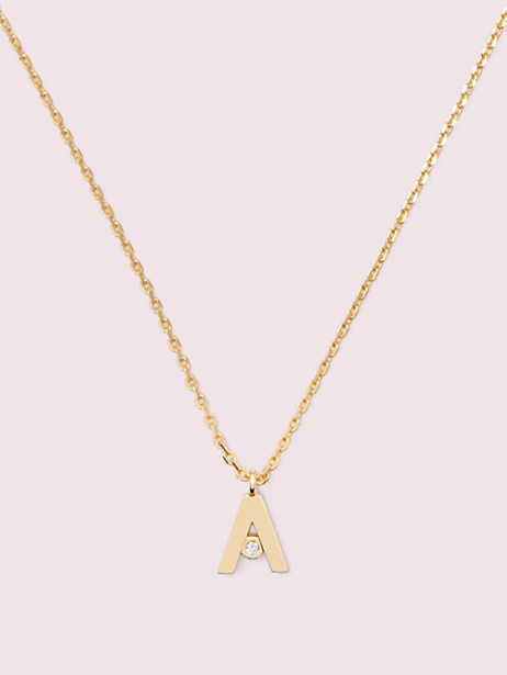 truly yours initial mini pendant, B, large by kate spade new york