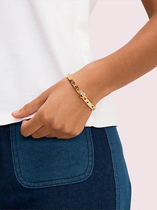 kate spade new york x tom & jerry hinged bangle by kate spade new york hover view