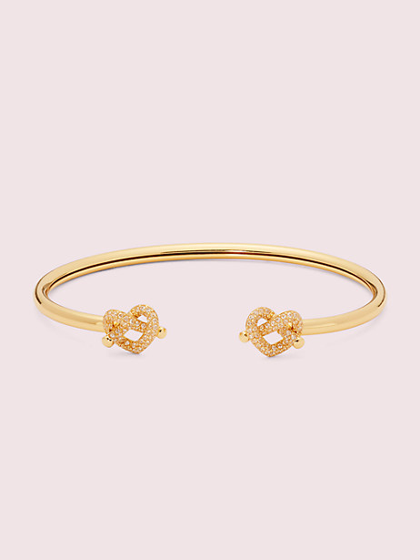 loves me knot pavé flex cuff by kate spade new york