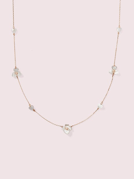 precious pansy scatter necklace by kate spade new york