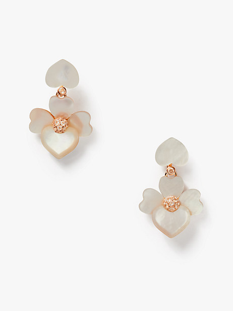 precious pansy drop earrings by kate spade new york