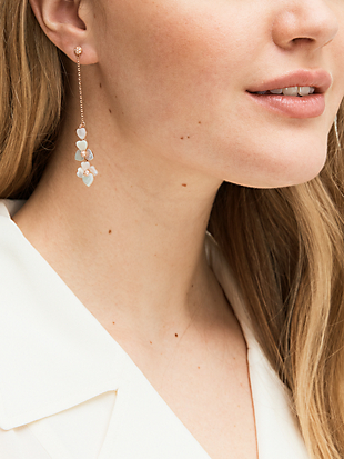 precious pansy linear earrings by kate spade new york hover view