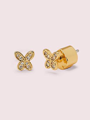 in a flutter pavé mini studs by kate spade new york non-hover view